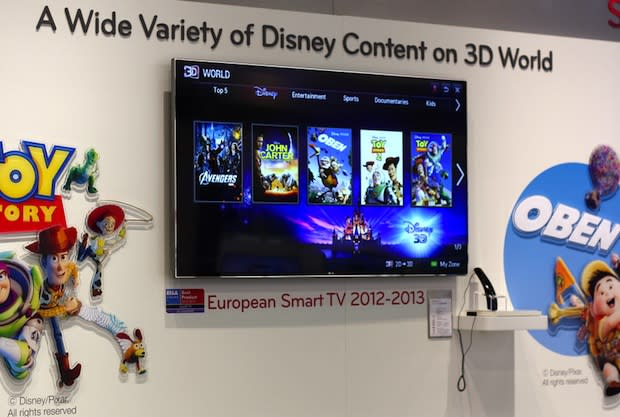 LG's Smart TV platform starts renting out Disney 3D movies, offers new buyers $50 worth