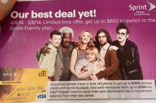 Sprint will pay you to switch from a rival carrier to its Framily plan