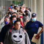 Wall Street falls as tech sells off again, jobless claims still high
