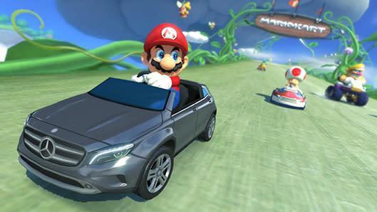Mario Kart 8's Mercedes DLC drifts toward North America, Europe