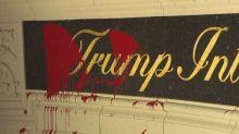 Vandals Splatter Red Paint Across Trump International Golf Club Entrance