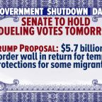 Senate to vote on dueling proposals to end shutdown