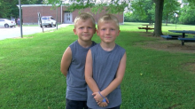 These six-year-old twins saved a toddler from drowning
