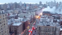 Aerial Footage Shows NYC Apartment Fire