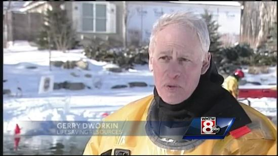 First responders practice ice rescue