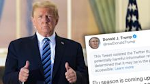 'This is a lie': Donald Trump's Covid message hidden by Twitter
