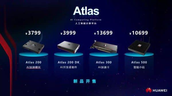 華為智能計算Atlas新品開售