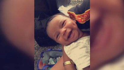 6-week-old baby's smile will brighten your day