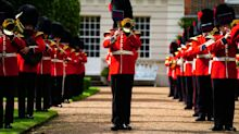 Watch Coldstream Guards belt out 'Three Lions' ahead of England Denmark semi-final
