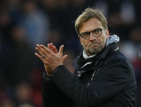 Liverpool manager Juergen Klopp celebrate after the game