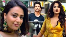 Swara Bhaskar has come out in support of Rhea Chakraborty