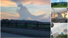 日本網民發現「哥斯拉」 超像真雲層網民出圖回帶