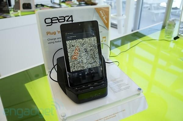 Gear4 speaker dock supports USB audio for Jelly Bean at Google I/O 2012 (hands-on video)