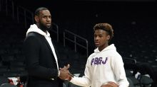 Bronny James is already getting mobbed by fans in China
