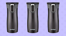Over 34,000 Amazon shoppers swear by the Contigo travel mug—and it's on sale for just $12