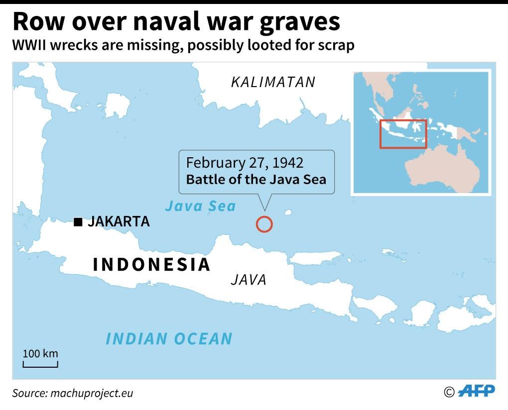 Row over naval war graves (AFP Photo/Iris ROYER DE VERICOURT)