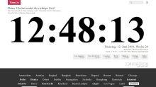Webseite zeigt Weltzeit an