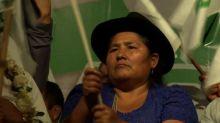 Bolivianos piden que Evo Morales pueda presentarse a reelección