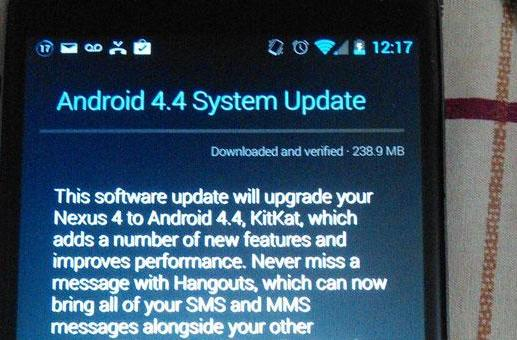 Android 4.4 KitKat arrives on Nexus 4 handsets