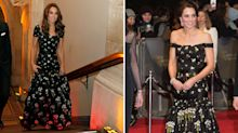 The Duchess of Cambridge cleverly altered an old dress for a gala last night