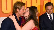 Lena Dunham explains what happened with 'awkward' Brad Pitt kiss photo