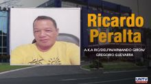 P10M bounty raised for the capture of gun-for-hire boss Ricardo Peralta
