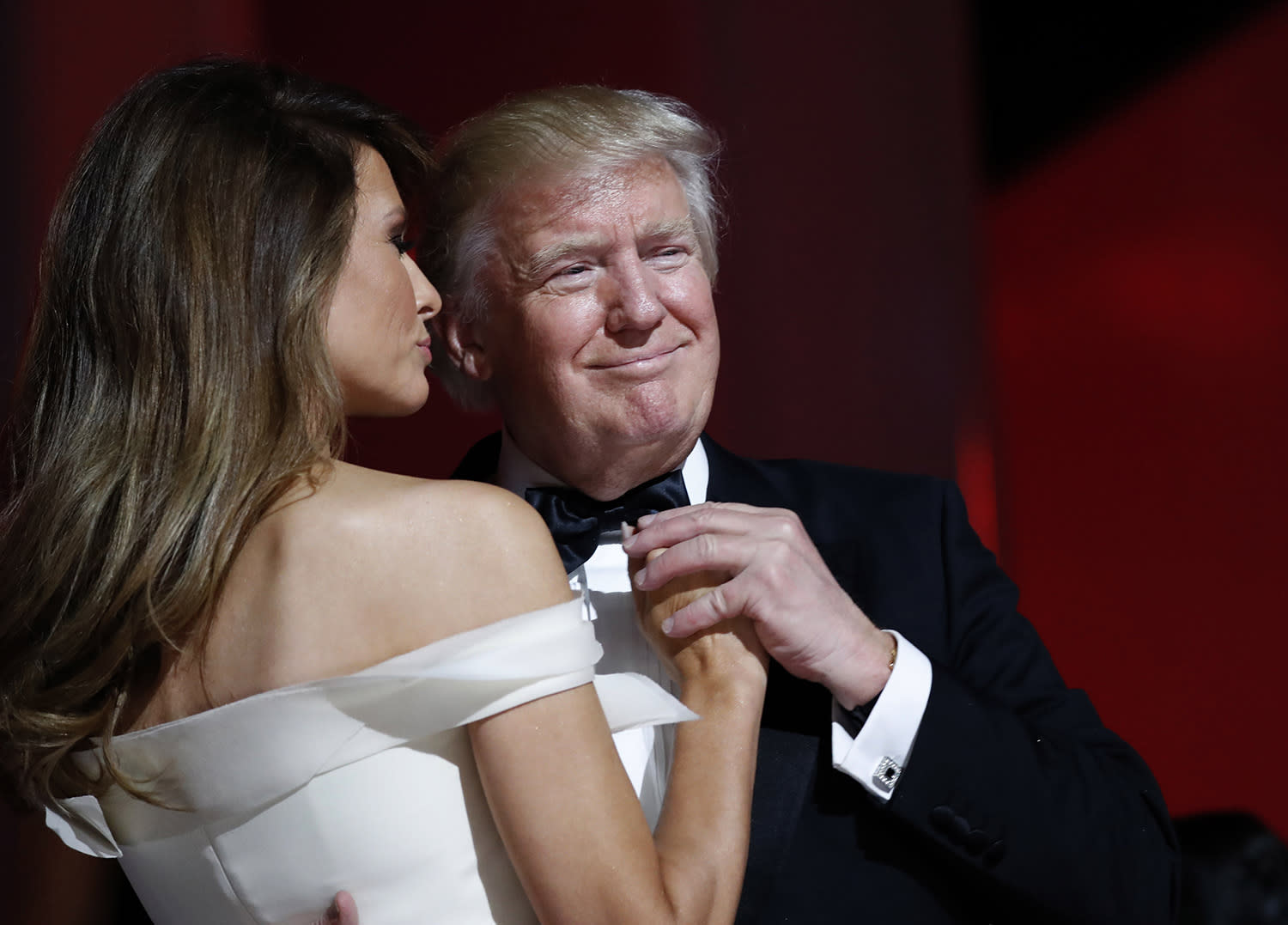 <p>President Donald Trump dances with first lady Melania Trump at the Liberty Ball, Friday, Jan. 20, 2017, in Washington. (Photo: Alex Brandon/AP) </p>