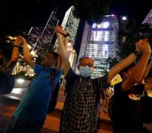 Hong Kong protesters join in 'Baltic Chain' link of hands