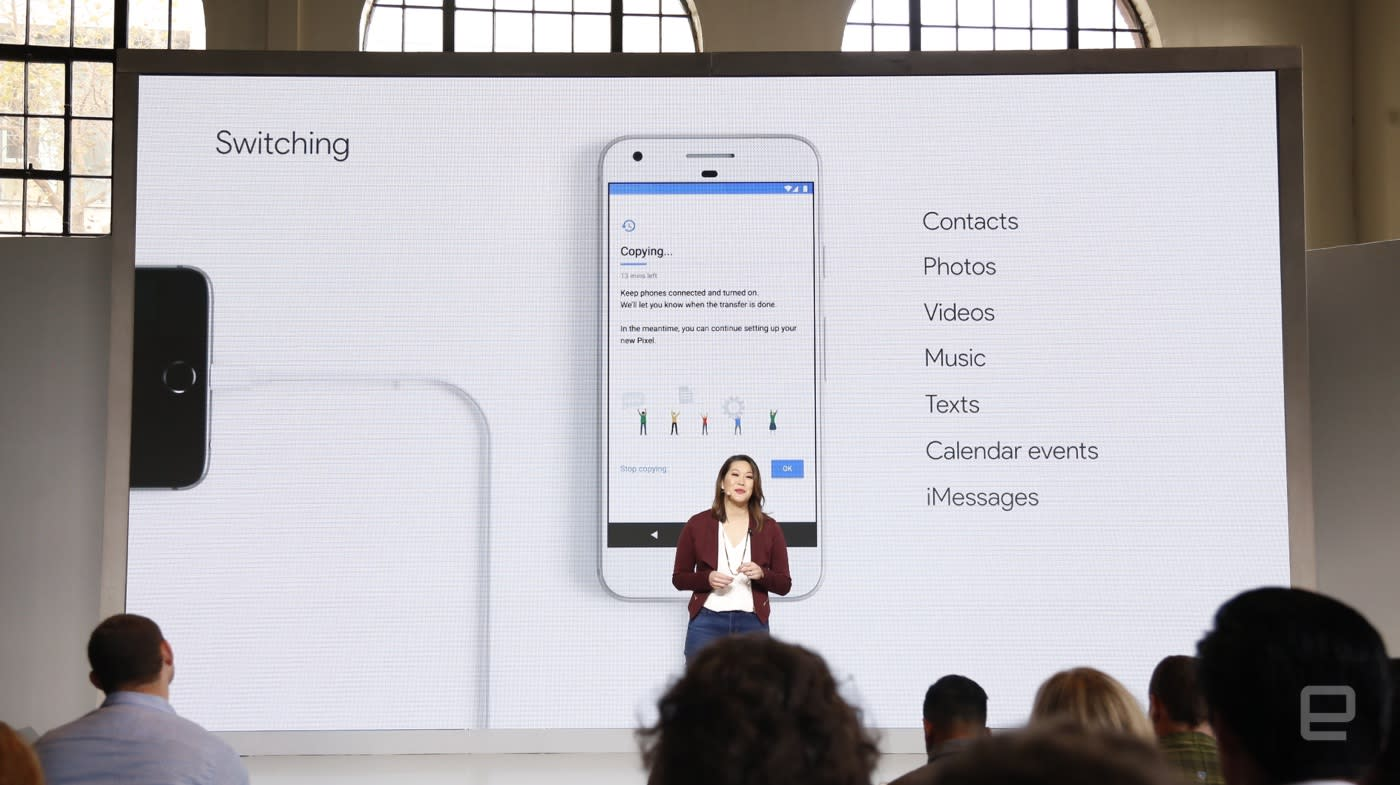 Google Pixel tools help you switch from an iPhone | Engadget