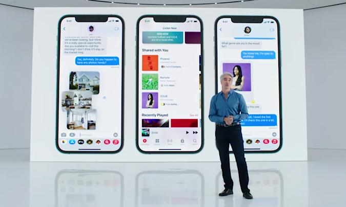 """iOS 15 will have a """"shared with you"""" feature."""