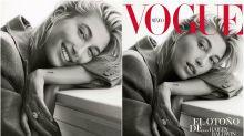 Hailey Baldwin presume de anillo de compromiso para Vogue México