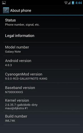 Galaxy Note gets early CyanogenMod 9 port, for those in a rush (video)