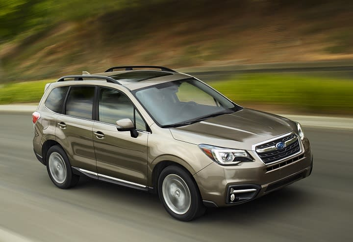 subaru refines and updates 2017 forester crossover suv. Black Bedroom Furniture Sets. Home Design Ideas