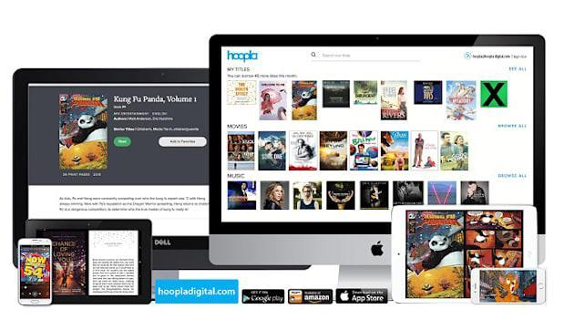 Hoopla lets you digitally borrow almost anything from your library
