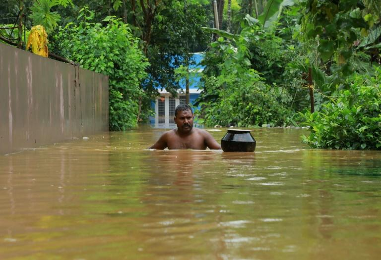 The southern state of Kerala has been hardest hit by the floods, with about 120,000 people in emergency relief camps (AFP Photo/STR)