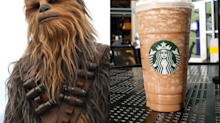 A Chewbacca Frappuccino Exists and It Looks Just Like Your Favorite Wookiee