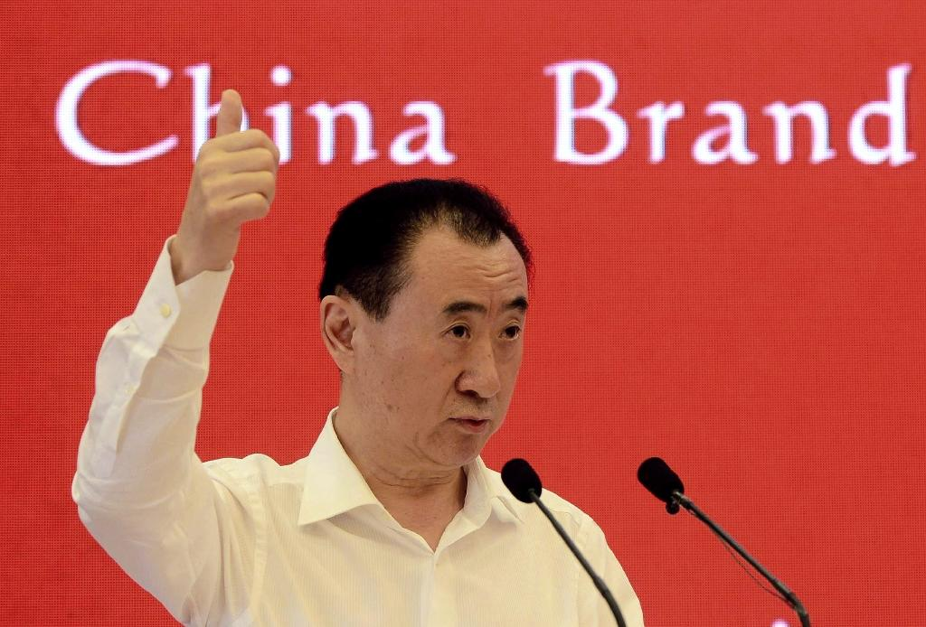 Wang Jianlin, chairman of Wanda Group, seen at the China Brand Forum in Beijing, in 2015 (AFP Photo/-)