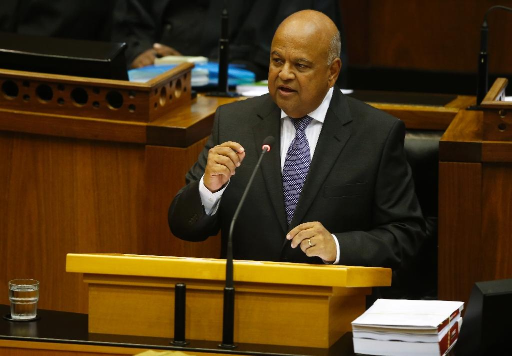 """Pravin Gordhan declined to answer investigators' questions over a so-called """"rogue unit"""" set up to spy on top politicians when he was head of the tax service (AFP Photo/Mike Hutchings)"""