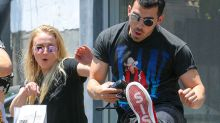 Hi-Yah! Joe Jonas and Sophie Turner Have Some Fun With the Paparazzi