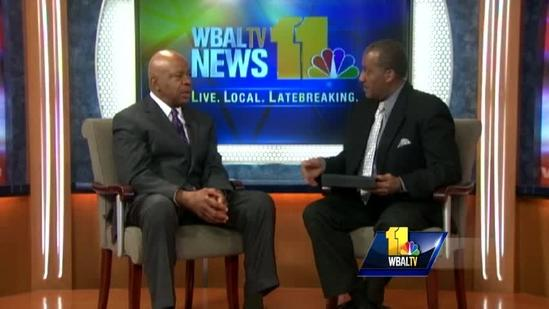 Rep. Elijah Cummings talks Baltimore job fair
