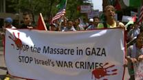 Palestinian supporters protest in Denver