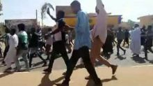 Unarmed Protesters Flee Sounds of Gunfire in Khartoum