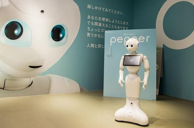 Businesses can rent a Pepper robot for customer service