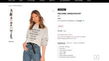 'Being fat is not beautiful. It's an excuse': Revolve accused of fat-shaming with sweatshirt meant to shine light on horrors of trolling