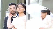 Bride's horror in wedding video moments before Beirut blast