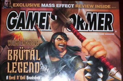 Tim Schafer's Brutal Legend lands on Game Informer cover