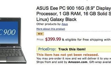 Eee PC 901 shows up for pre-order on Amazon for $399 (update: NewEgg shipping)