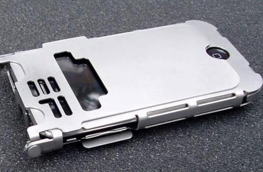 iPhone gets a stainless steel clamshell case, we'll wait for the titanium version