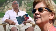 How Elizabeth Warren's book ended up making a cameo on the Rock's TV show 'Ballers'