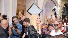 Claudia Schiffer Stops Traffic on Via Montenapoleone